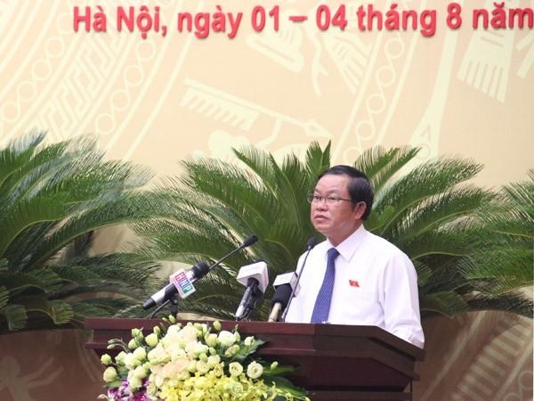 Phó Chủ tịch Quốc hội Đỗ Bá Tỵ phát biểu tại kỳ họp thứ 2,