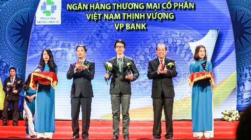 VPBank tiếp tục được vinh danh tại chương trình Thương hiệu Quốc gia năm 2016