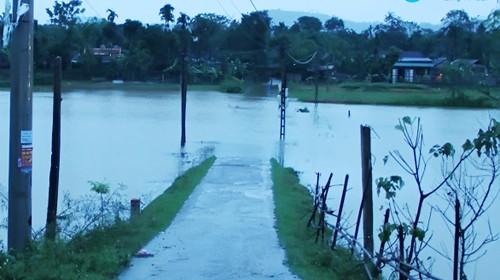 Do ảnh hưởng của áp thấp nhiệt đới gây mưa lớn, nhiều địa bàn tại tỉnh Hà Tĩnh