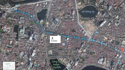 UBND TP Hà Nội vừa trình Thủ tướng Chính phủ phê duyệt chủ trương đầu tư dự án xây dựng đường vành đai 1 đoạn Hoàng Cầu - Voi Phục
