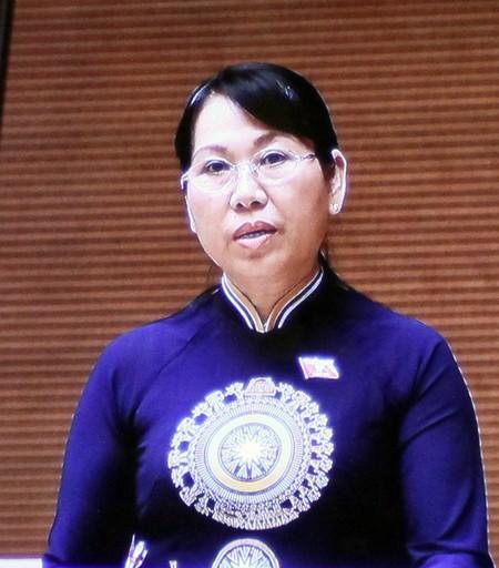 ĐB Nguyễn Thanh Thủy (Hậu Giang) phát biểu