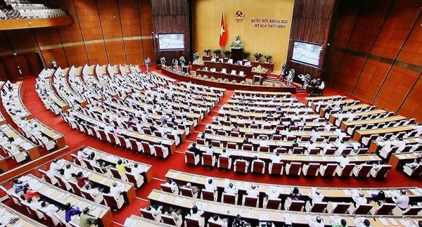 Quang cảnh phiên họp Quốc hội ngày 9-6