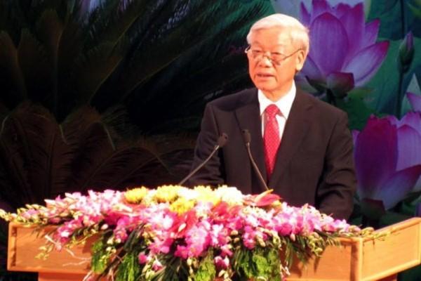 Tổng Bí Thư Nguyễn Phú Trọng đọc diễn văn tại lễ kỷ niệm