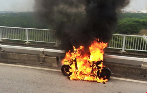 Hiện trường vụ xe đạp điện bị cháy tại Hải Phòng