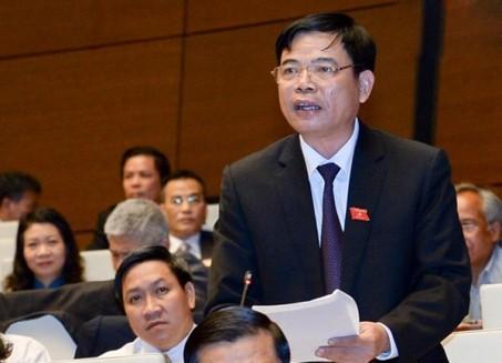 Bộ trưởng Nguyễn Xuân Cường phát biểu giải trình