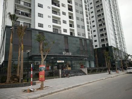 Mặt tiền tòa B dự án Hateco Hoàng Mai