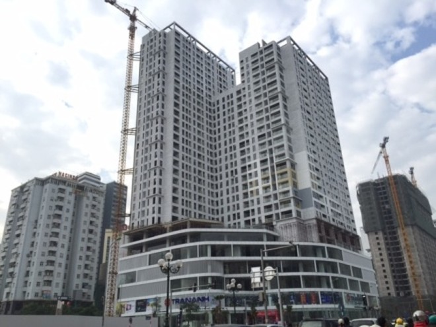Công trình xây dựng đang thi công tại 85 Lê Văn Lương