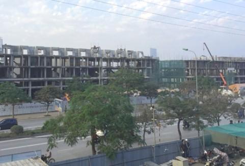 Nhiều dự án nhà phố thương mại đang được triển khai xây dựng