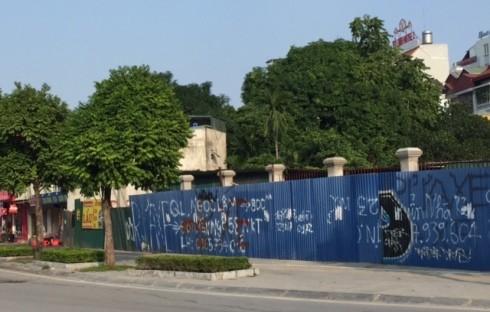 Khu vực đang GPMB thực hiện dự án Nhà bia tưởng niệm Liệt sỹ phường Quan Hoa