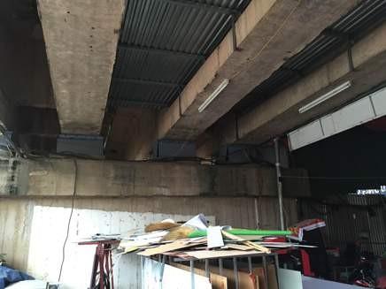Bắn mái tôn dưới gầm cầu để phục vụ sản xuất!