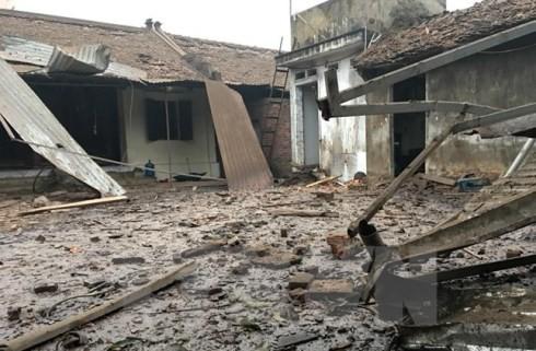Cảnh tan hoang sau vụ nổ ở xã Văn Môn, huyện Yên Phong, Bắc Ninh