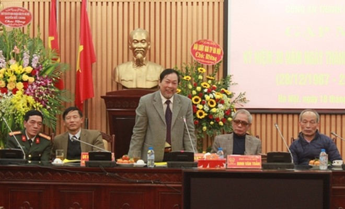 Ông Nguyễn Hồng Tuyến – Ủy viên Ban Thường vụ Hội Luật gia Việt Nam, Chủ tịch Hội Luật gia TP Hà Nội phát biểu