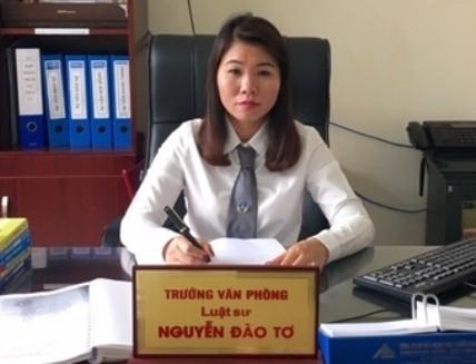 Luật sư Nguyễn Đào Tơ - Trưởng VPLS Hoàng Huy