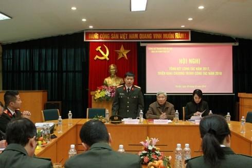 Trung tá Nguyễn Thanh Bình - Tổng Biên tập Báo ANTĐ phát biểu khai mạc