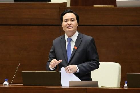 Bộ trưởng Phùng Xuân Nhạ trả lời chất vấn