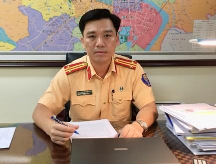 Trung tá Nguyễn Mạnh Hùng, Phó Trưởng phòng CSGT đường bộ, đường sắt – CATP Hà Nội