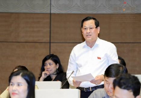 Đại biểu Nguyễn Hữu Cầu (đoàn Nghệ An) phát biểu thảo luận