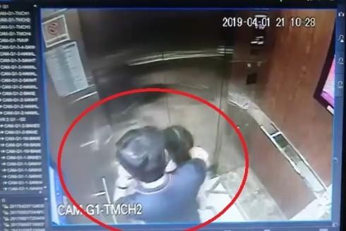 Đối tượng Nguyễn Hữu Linh có hành vi sàm sỡ đối với cháu bé trong thang máy