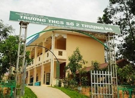 Trường THCS số 2 Thượng Hà - nơi xảy ra vụ việc