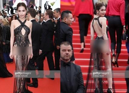 Bộ trang phục xuyên thấu tại LHP Cannes khiến cư dân mạng dậy sóng những ngày qua