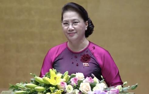 Chủ tịch Quốc hội Nguyễn Thị Kim Ngân phát biểu khai mạc kỳ họp