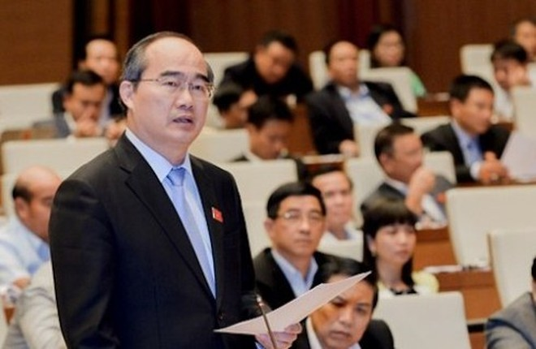 Đại biểu Quốc hội - Bí thư Thành ủy TP.HCM Nguyễn Thiện Nhân phát biểu thảo luận
