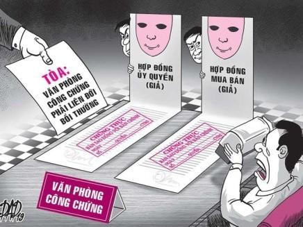CCV cần thận trọng kiểm tra kỹ các loại giấy tờ trước khi công chứng (ảnh minh họa)