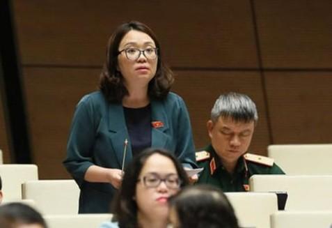 Đại biểu Phạm Thị Minh Hiền (đoàn Phú Yên) phát biểu