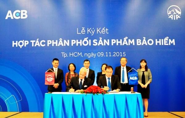 ACB và AIA Việt Nam hợp tác phân phối sản phẩm bảo hiểm nhân thọ ảnh 1