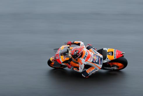 Marc Marquez trên đường đua MotorGP 2016