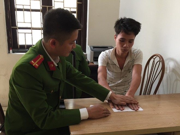 CAH Mê Linh bắt giữ đối tượng trong một vụ phạm pháp hình sự