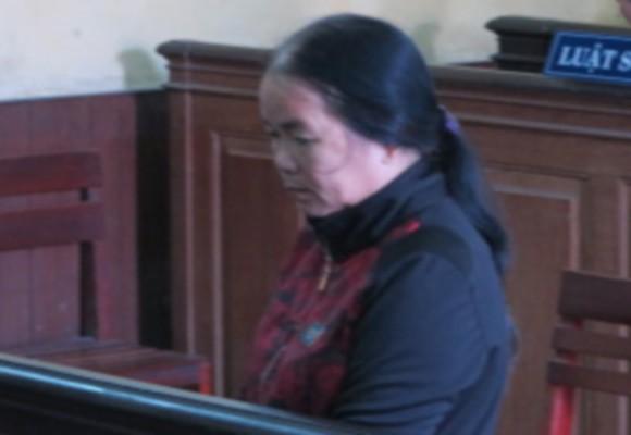 Bị cáo Nguyễn Thị Sạnh tại tòa phúc thẩm