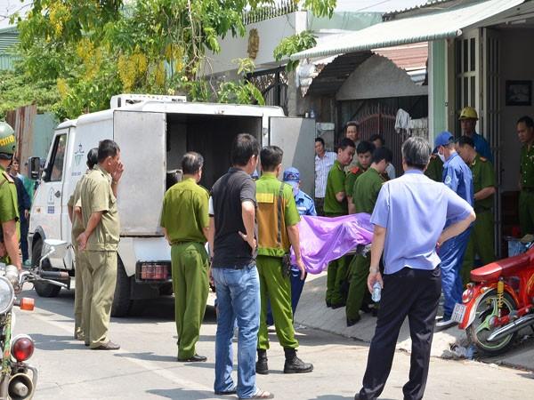 Cơ quan công an tổ chức khám nghiệm hiện trường