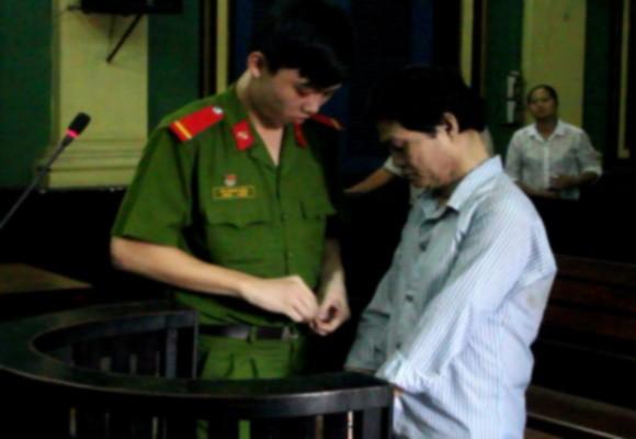 Bị cáo Nguyễn Văn Nghĩa tại tòa