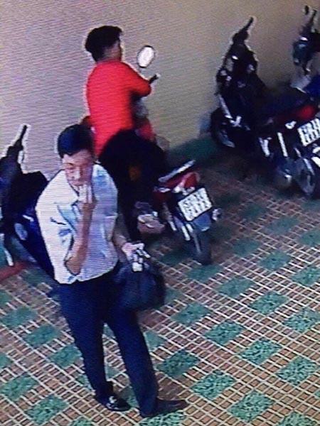 Nhân dạng Phan Văn Liêu bị camera an ninh của khách sạn ghi nhận lại