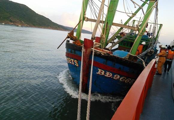 Tàu BĐ 96652 TS gặp nạn