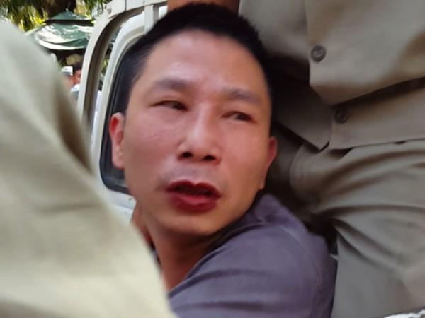 Đối tượng Hoàng Lại Nam lúc bị bắt giữ