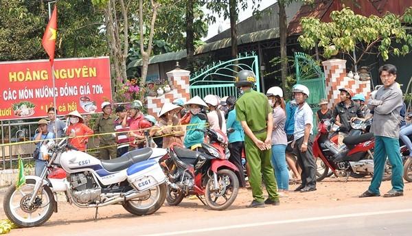 Hiện trường vụ án xảy ra tại tiệm hớt tóc thuộc ấp 2, xã Minh Lập, huyện Chơn Thành
