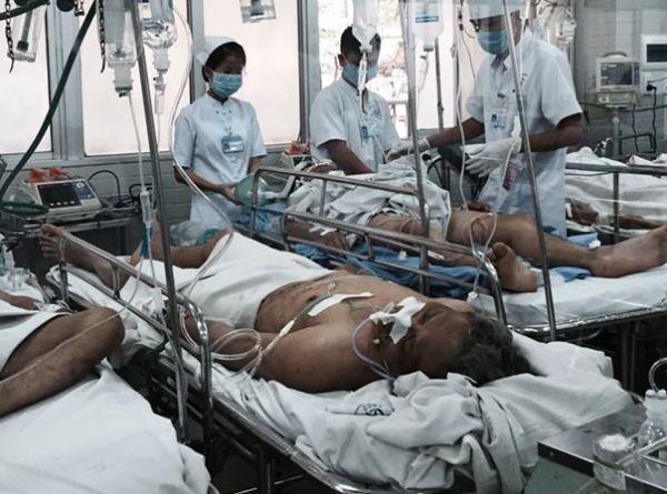 Ông Nguyễn Văn Cảnh hiện đang cấp cứu tại bệnh viện