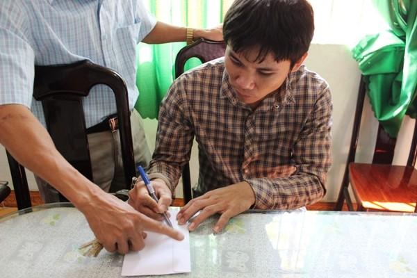 Đối tượng Nguyễn Hoàng Hưng khi bị bắt giữ