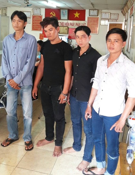 4 đối tượng bị bắt giữ tại cơ quan Công an