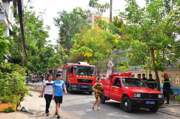 Lực lượng Cảnh sát PCCC đã có mặt kịp thời ứng cứu