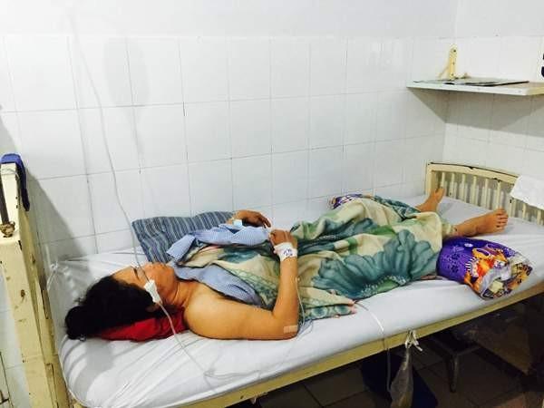 Bà Thu đang điều trị tại bệnh viện