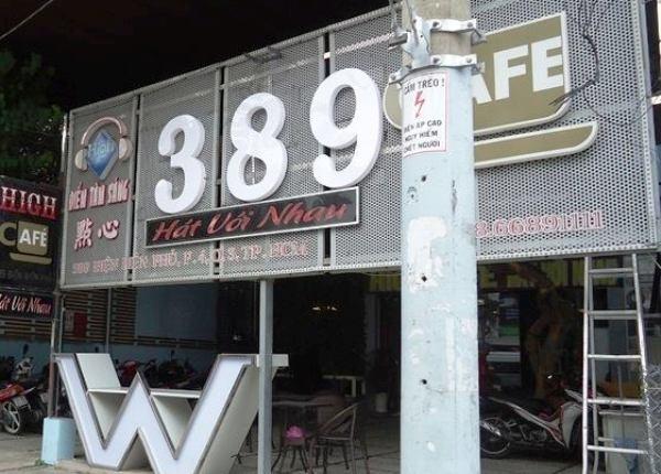 Quán cà phê 389 nơi xảy ra vụ trộm