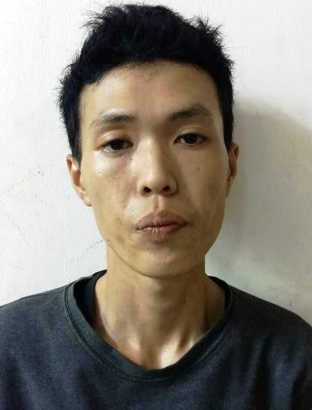 Nghi can Võ Minh Tân khi bị bắt giữ