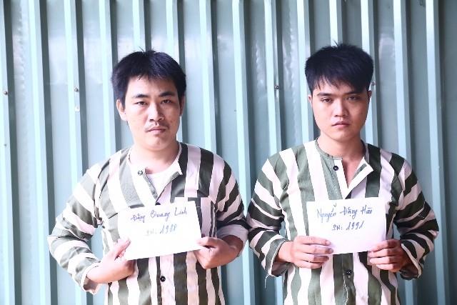 Hai đối tượng Linh và Hào đang bị tạm giam