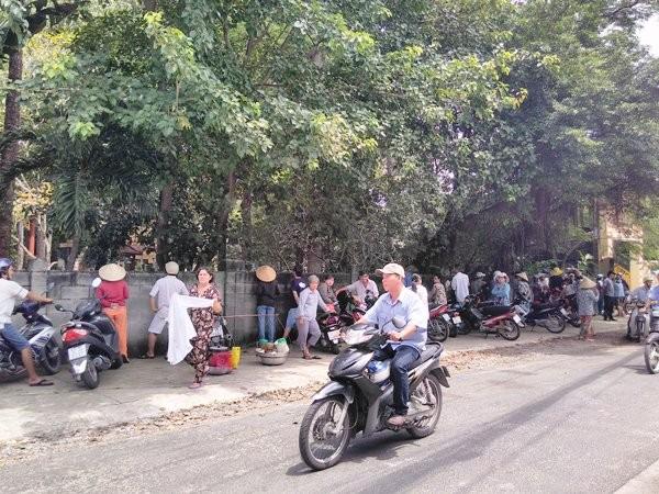 Hiện trường ngôi chùa Bửu Quang bị phong tỏa để điều tra