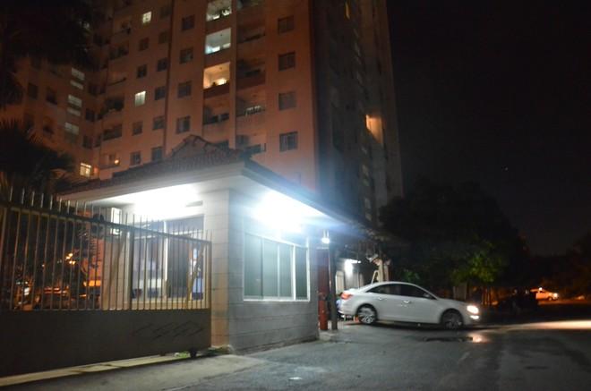 Hiện trường tại chung cư Him Lam thuộc khu dân cư Trung Sơn, xã Bình Hưng, Bình Chánh