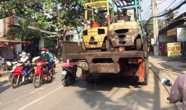 Xe tải trong vụ tai nạn