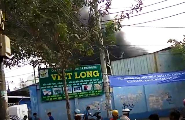Cháy lớn ở công ty vùng ven TP. HCM, nhiều tài sản bị thiêu rụi ảnh 1